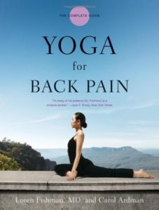 yoga for back pain by Loren Fishman